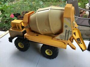 Vintage-Tonka-Cement-Mixer-Mighty-Turbo-Diesel-XMB-975-1980s-Yellow-Restore