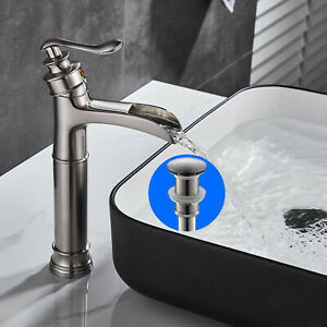 BWE-Waterfall-Single-Handle-Bathroom-Vessel-Sink-Faucet-Basin-Mixer-Tap-W-Drain