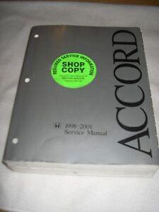1998 1999 2000 2001 honda accord service manual shop repair factory rh ebay com 2000 honda accord v6 repair manual 2000 honda accord repair manual free download