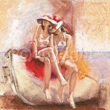 Talantbek Chekirov: Kindred Spirits Fertig-Bild 50x50 Wandbild Mädchen