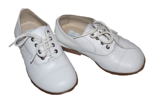 Marie Chantal Preppy White Leather Brogues Various Sizes NEW