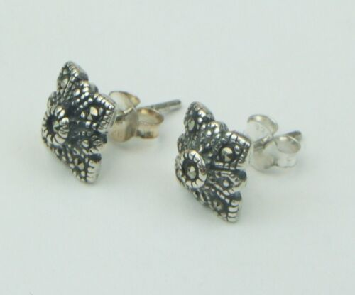 Stamped 925 Marcasite Square Stud Earrings UK SELLER /& FREE POST Silver