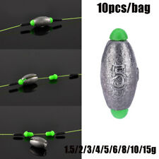 Shot Additional Weight Fishing Lead fall Hook Connector Sinker Olive Shaped