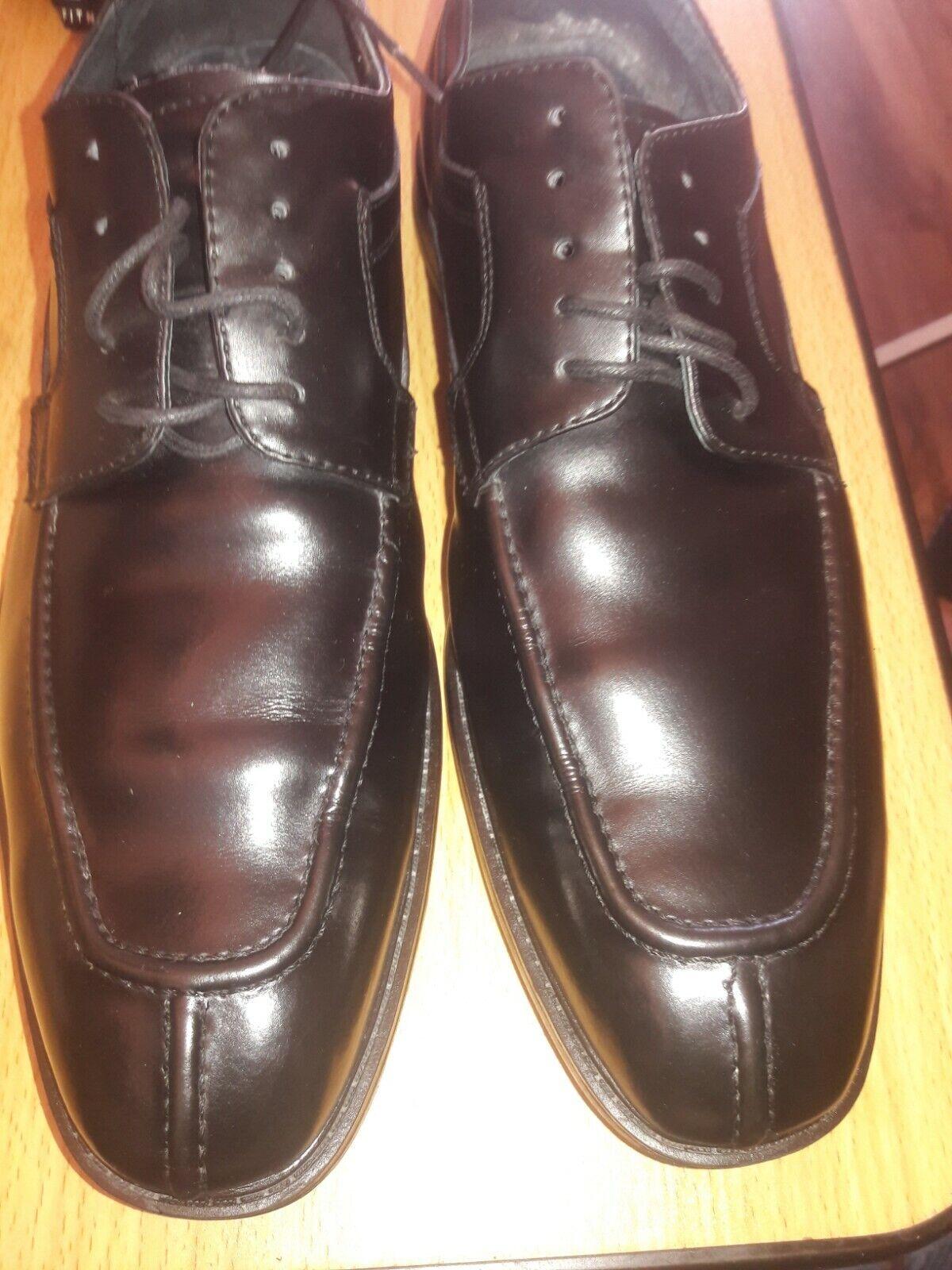 JOSEPH ABBOUD,13D , MENS, BLACK, leather pre owen lace up good round toe 139.00