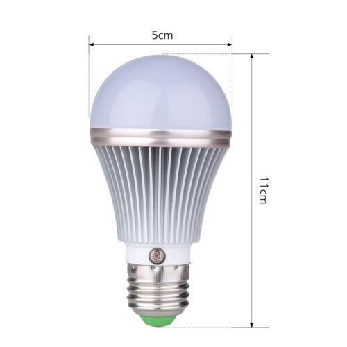 7W E27 6000K Home Dusk to Dawn Auto Sensor Light Bulb Sensor LED Lamp Bulbs