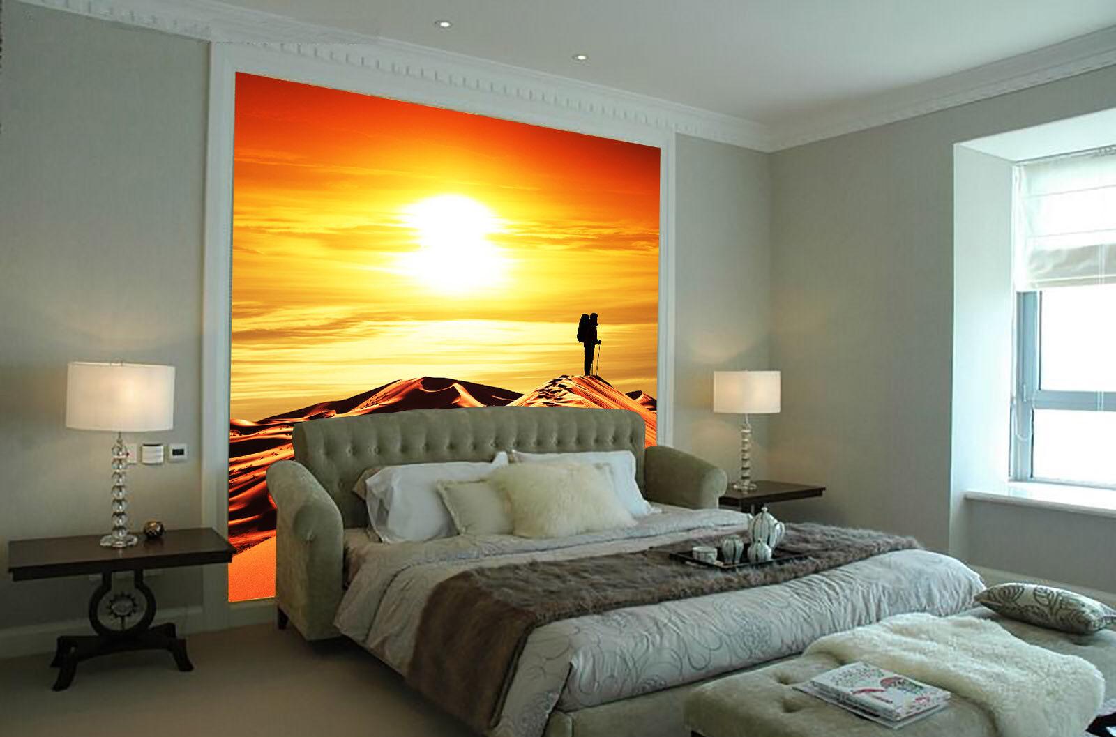 3D Wüste Sonnenaufgang 86 Tapete Wandgemälde Tapete Tapeten Bild Familie DE  | Flagship-Store  | Qualität Produkte  | Zart