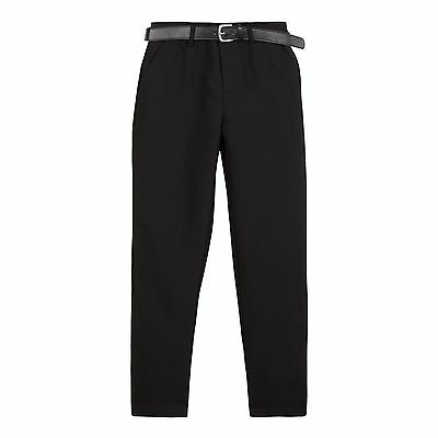 Debenhams Kids Boys' Black Belted Skinny School Trousers From Debenhams