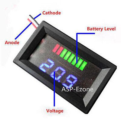 Charge Level Indicator Voltmeter for 12V Lead-acid Battery UK