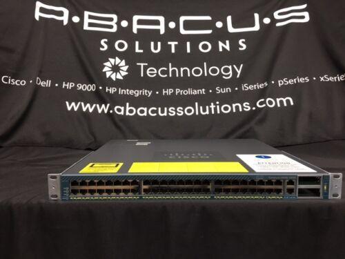 2x10GE Cisco WS-C4948-10GE-S 48 x 10//100//1000 DUAL AC POWER 1YR WARRANTY X2