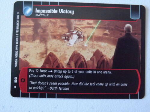 Star Wars TCG Impossible Victory 12//90 NM//Mint SR Sith Rising