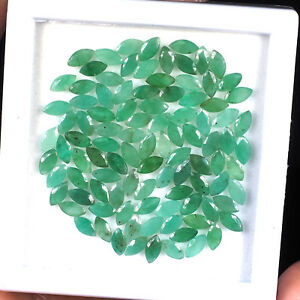 99-Pcs-6mm-3mm-Natural-Colombian-Emerald-Finest-Green-Gems-Marquise-Cut