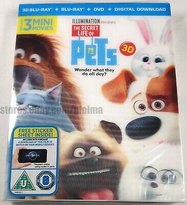 The Secret Life Of Pets 2016 Brand New 3d 2d Blu Ray Movie Illumination 5053083092269 Ebay