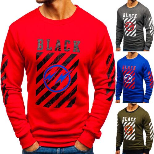 BOLF Felpa Maglia Sweatshirt Sportiva Girocollo Grafico Pullover Uomo 1A1 Casual