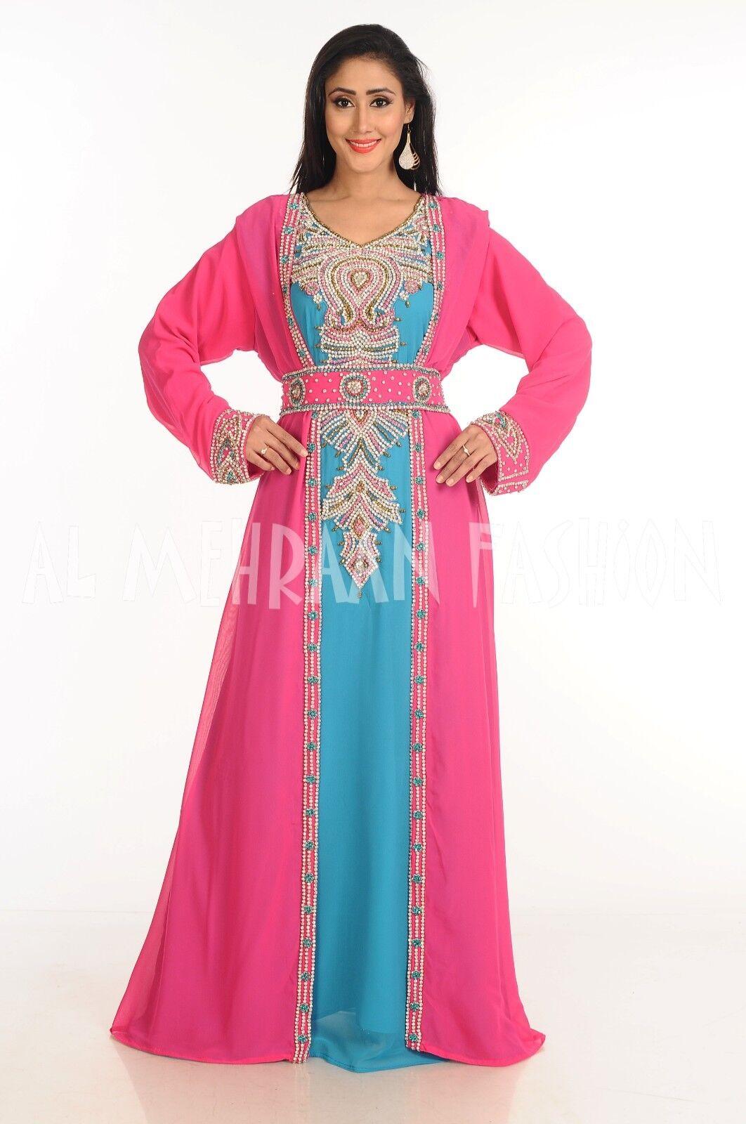 ELEGANT ELEGANT ELEGANT MgoldCCAN FANCY JILBAB ARABIAN DUBAI TAKSHITA WEDDING GOWN DRESS  150 61c8b8