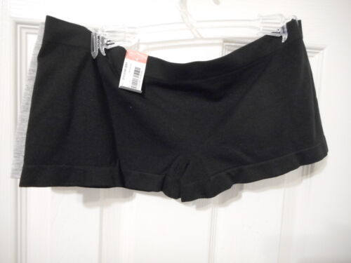 Women/'s Flirtitude 2 Pack Boy Short Panties Black /& Gray Size Large NEW