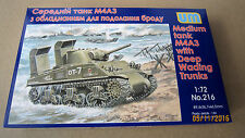 Tank M4А3 with Deep Wading Trunks   1/72 UNIMODELS  # 216