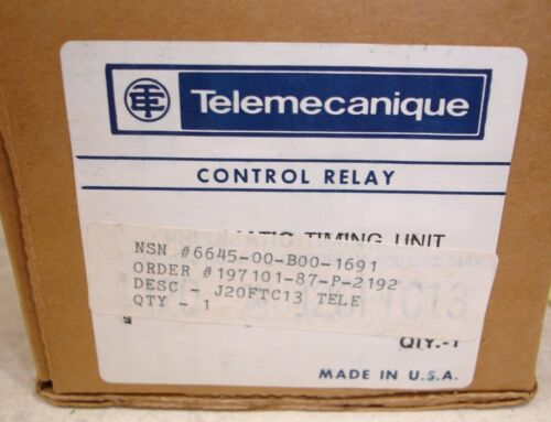 New Square D Telemecanique J20FTC13 Off Delay pneumatic timing unit .1-30 sec.