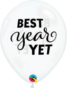 NEW-YEAR-039-S-EVE-BALLOONS-10-x-11-034-SIMPLY-THE-BEST-YEAR-YET-QUALATEX-BALLOONS