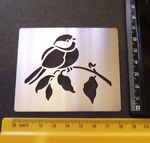 Stainless//Steel//stencil//Emboss//Christmas//Robin//Bird//Branch//Leaf//METAL