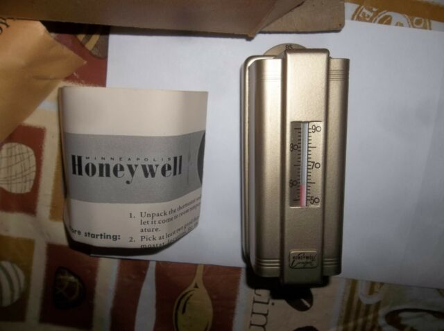 NEW OLD STOCK 1950 RARE HONEYWELL ANTIQUE VINTAGE THERMOSTAT