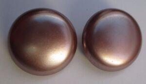 Belles-boucles-d-039-oreilles-clips-bijou-vintage-bouton-nacre-marron-rose-2503