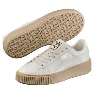 3adb8c0bdbdef PUMA Women s Basket Platform Patent Wn Sneaker - MARSHMALLOW Size 10 ...