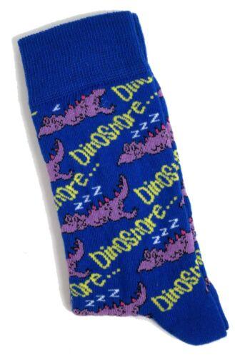 Homme Dinosnore ZZZ délassante Dinosaure Chaussettes Taille UK 6-11//EUR 39-46//USA 7-12