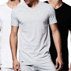 0d01bd5eb9a Lacoste Men s Essentials Supima Cotton 3-Pack V-Neck T-Shirt
