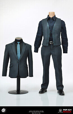 "1:6 Scale Iron Man Tony Stark T-shirt Clothing Suit Set+Shoes Model F 12/"" Figure"