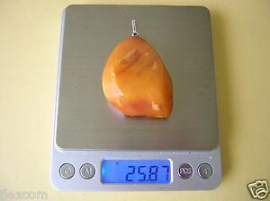 Antiker Xxl Natur Bernstein Anhänger Dark Butterscotch 25,8 G Old Genuine Amber Delikatessen Von Allen Geliebt
