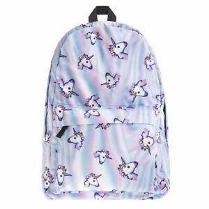 Girls-Unicorn-Rainbow-Fantasy-Backpack-Rucksack-School-Student-Travel-Bags