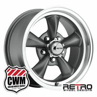 Chevy Wheels 15 Inch 15x7 Charcoal Gray Wheels Rims Bel Air 1955 1956 1957
