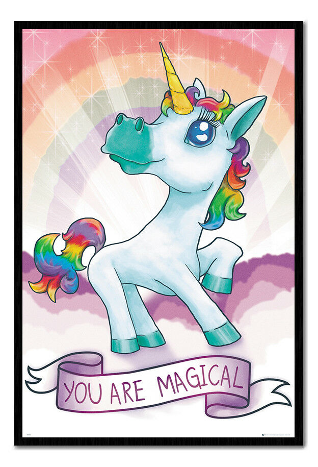 Unicorn You Are Magical Poster Magnetic Notice Board Inc Magnets