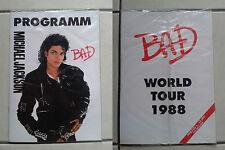 MICHAEL JACKSON programm BAD world tour 1988