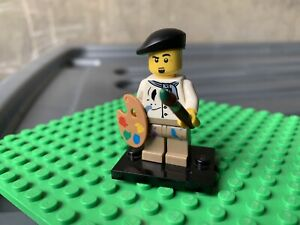 ART BRUSH /& EASEL LEGO CITY ARTIST PAINTER MINIFIGURE MADE OF GENUINE LEGO