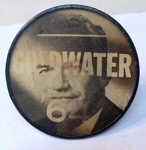 1964 BARRY GOLDWATER president Lenticular lens flasher pinback button