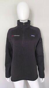 Patagonia Better Sweater Womens Fleece Jacket Large Dark Gray 1/4 Zip Pullover