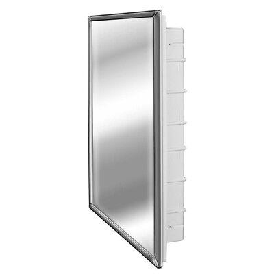 Zaca Recessed Door Bathroom Medicine Cabinet 6 Shelves
