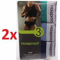 Mens Holeproof Cotton 6 Pack Men's Brief Underwear Undies Cotton Size S M L Xl