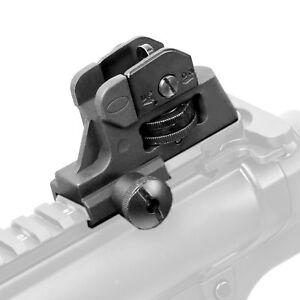 Rifle-Hunting-Adjustable-Iron-Rear-Sight-Set-Post-Fixed-Match-Grade-20mm-Rail