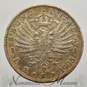 Regno-d-039-Italia-Vittorio-Emanuele-III-2-Lire-Aquila-Sabauda-1905