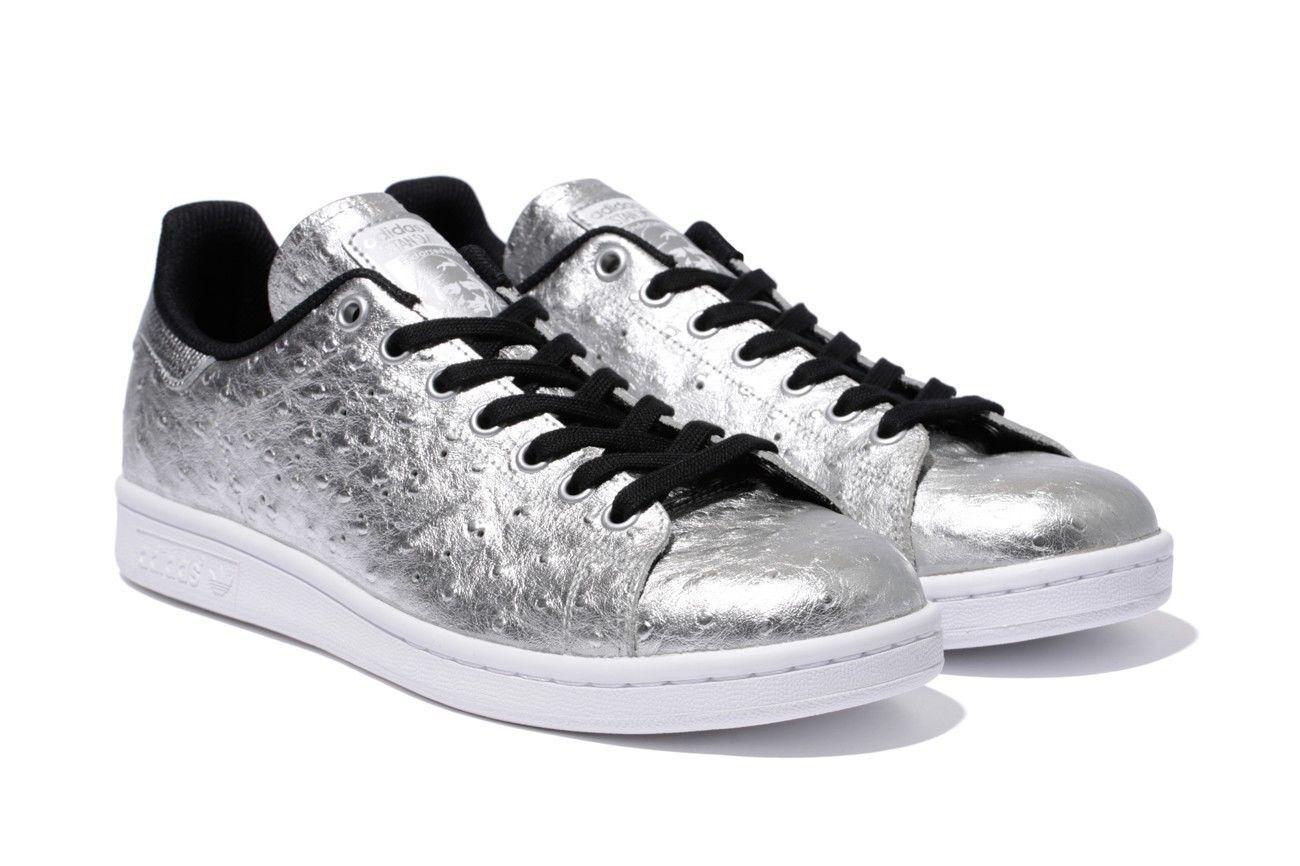New Mens Adidas Originals Stan Smith Size Shoes Metallic Silver AQ4706 Size Smith 10,10.5 da6bf2