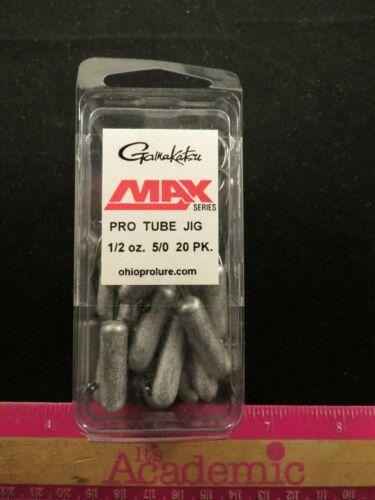 Gamakatsu Pro Tube 1//2oz Jig 5//0 Hook 20 Pk Max Series Ohio Pro Lure #04012 NEW