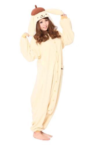 Sanrio Pompom Pudding Fleece Costume Kigurumi san434 SAZAC from Japan F//S NEW
