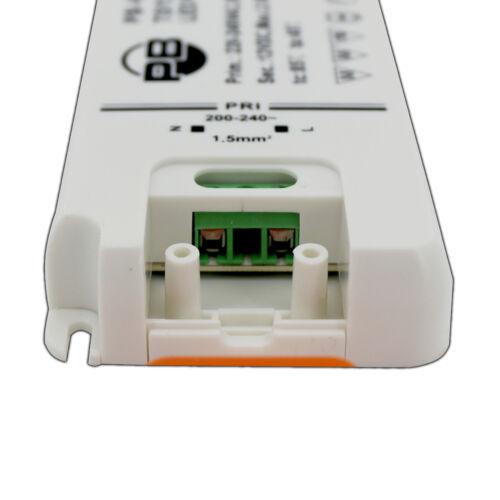 LED Trafo 12V DC 1-30 Watt flach SLIM Transformator Driver Netzteil kompakt