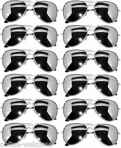 685ff0f5249 Image is loading WHOLESALE-12-SILVER-MIRROR-AVIATOR-STYLE-SILVER-METAL-