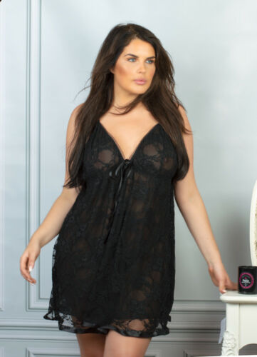 Plus Size Lingerie Red Lace BabyDoll Nightwear /& Thong 18,20,22,24,22,28,30,32