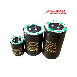 MUNDORF CONDENSATORI Elko 1000uf 100v 105 ° C mlytic ® AG audio Grade 853515