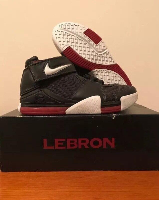 Nike Zoom Lebron II 2 - Size 11 Black/White OG 2004  Laser New/ Deadstock
