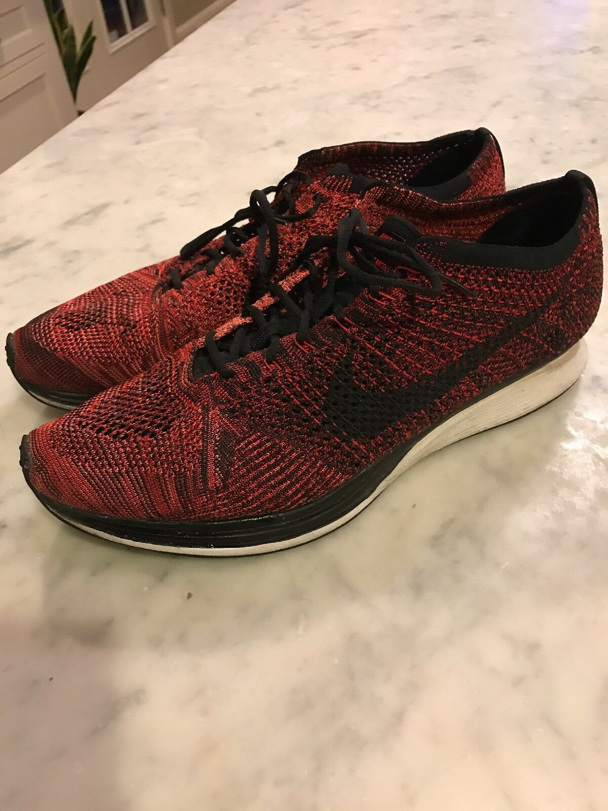 Nike Flyknit Racer Size 15 Tooster Red 526628-608
